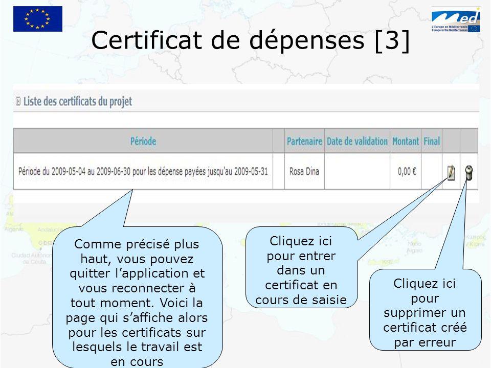 Certificat de dépenses [3]